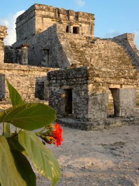 Ruins with Sun Setting on Buildings of Tulum, Mexico by Lisa S. Engelbrecht