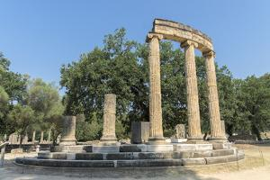 Tholos, Ancient Greek ruins, Olympia, Greece by Lisa S. Engelbrecht