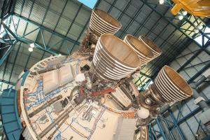 USA, Florida, Titusville, Kennedy Space Center, Saturn V rocket. by Lisa S. Engelbrecht