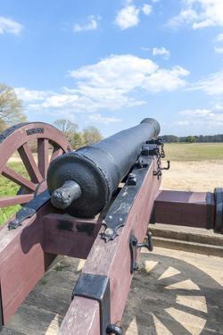 Virginia, Yorktown, Cannon on Battlefield by Lisa S. Engelbrecht