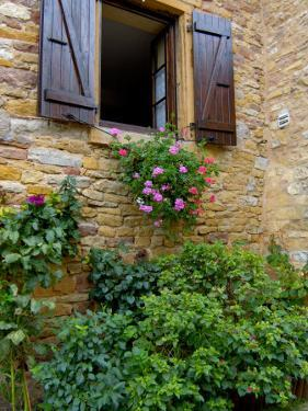 Window of Limestone House, Olingt, Burgundy, France by Lisa S. Engelbrecht