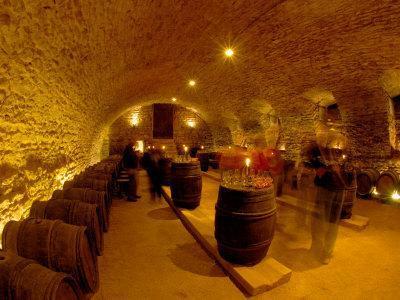 Wine Cellar of Chateau de Pierreclos, Burgundy, France