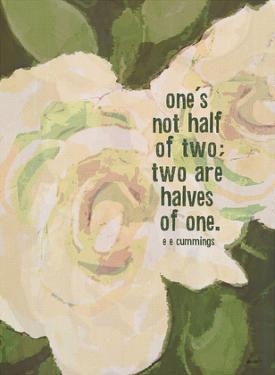 Ones Not Half by Lisa Weedn