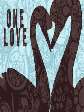 Swan Silhouette One Love by Lisa Weedn
