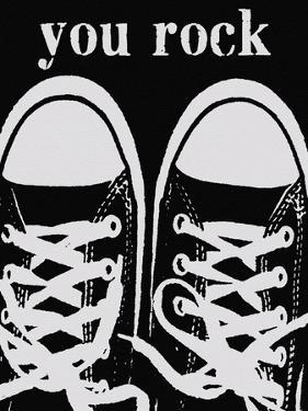 You Rock Black Sneakers by Lisa Weedn