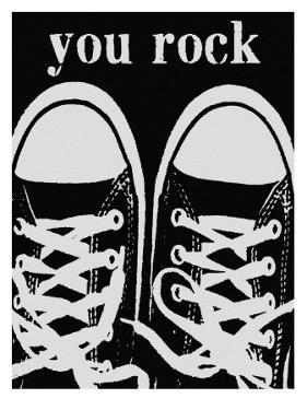 You Rock Black Sneakers by Lisa Weedn