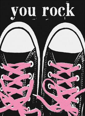 You Rock - Pink Laces by Lisa Weedn