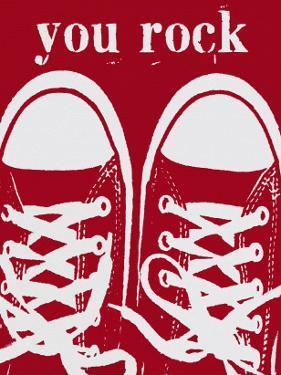 You Rock Red Sneakers by Lisa Weedn