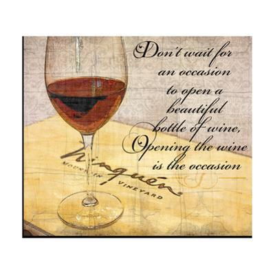 Wine Is the Occasion by Lisa Wolk