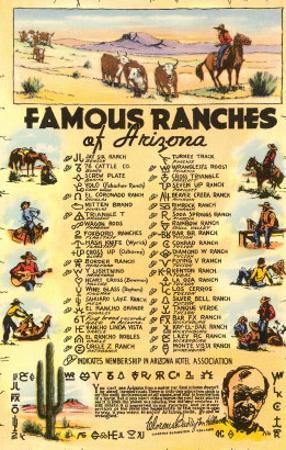 List of Famous Arizona Ranches with Brands