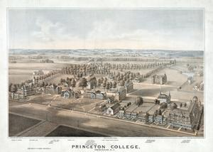 Lithograph of Princeton College