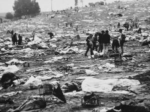 Litter of Woodstock Music Festival
