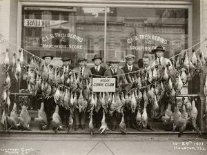 Result of a Duck Shoot Near Houston, Texas, USA, 1921 by Litterst Commercial Photo Company