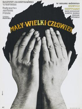 Little Big Man, (aka Maly Wielki Czlowiek), Polish poster, Dustin Hoffman, 1970
