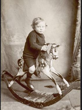 Little Boy on a Rocking Horse