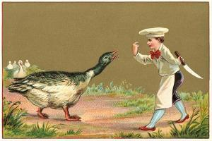 Little Chef Luring Goose