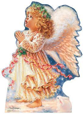 Little Christmas Angel - Dona Gelsinger Art Lifesize Standup