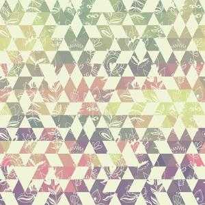 Pattern Geometric with Triangle and Plant Elements by Little_cuckoo