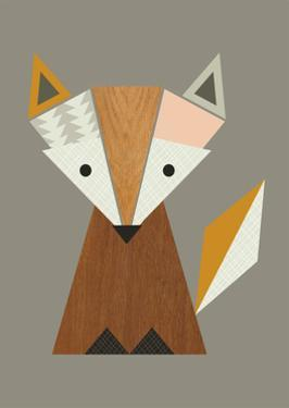 Geometric Fox by Little Design Haus