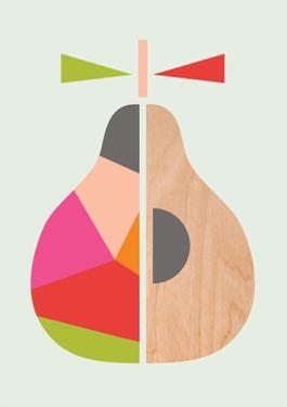 Geometric Pear by Little Design Haus