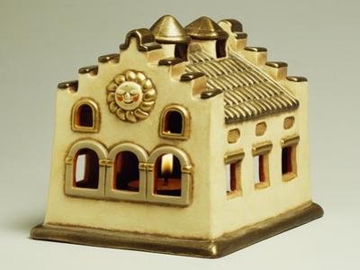 Little House with Light, Miniature, Ceramic, Thun Manufacture, Italy
