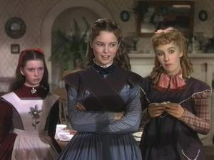 LITTLE WOMEN, 1949 directed by MERVYN LeROY Margaret O'Brien, Janet Leigh and Elizabeth Taylor (pho