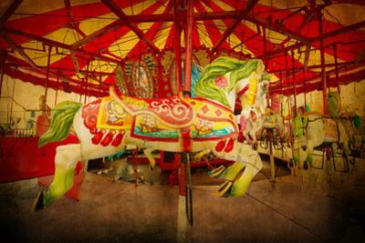 Vintage Style Carousel from Coney Island by Littleny