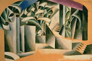 Stage Design For William Shakespeare's Play Romeo and Juliet, 1920 by Liubov Sergeevna Popova