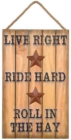 Live Right Sign