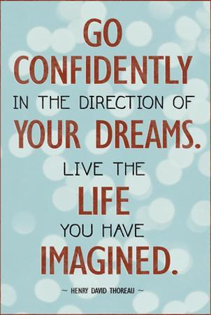 Live the Life You Have Imagined Thoreau Quote Art Print Poster