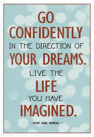 Superbe Live The Life You Have Imagined Thoreau Quote Art Print Poster