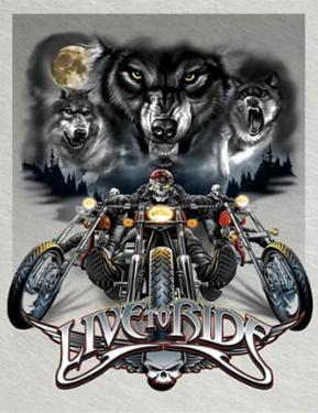 Live to Ride Wolves Motocycles