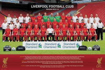 Liverpool FC Team Photo 2012-13