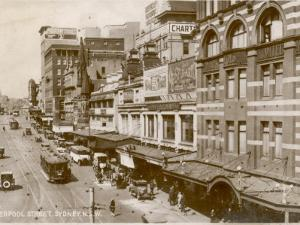 Liverpool Street, Sydney, New South Wales, Australia 1920s
