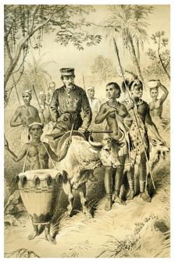 Livingstone Weak from Fever Escorted to Shinte's Town, C1854