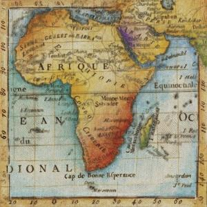 World Map IV by Liz Jardine