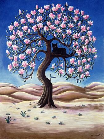 Black Cat in a Magnolia Tree, 1988