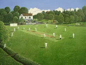 Cricket at Claygate, 1981 by Liz Wright