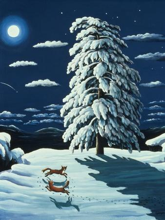 Foxes in Moonlight, 1989