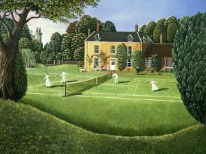 The Tennis Match, 1980 by Liz Wright