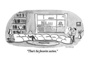 """""""That's his favorite section."""" - New Yorker Cartoon by Liza Donnelly"""