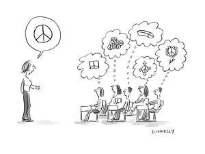 Thinking PEACE - Cartoon by Liza Donnelly