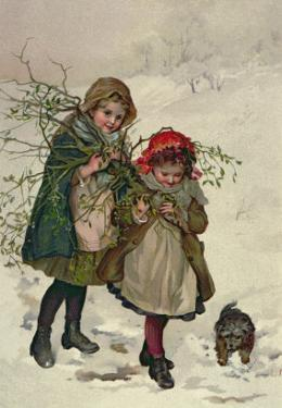 Illustration from Christmas Tree Fairy, Pub. 1886 by Lizzie Mack