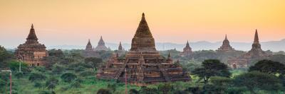 Panorama of  Bagan Temple at Sunset, Myanmar
