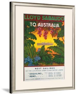Lloyd Sabaudo to Australia