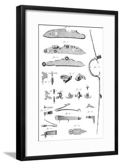 Loading Mechanism Parts--Framed Giclee Print