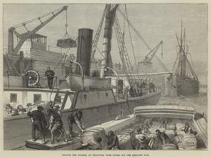 Loading the Warree, at Woolwich, with Stores for the Ashantee War