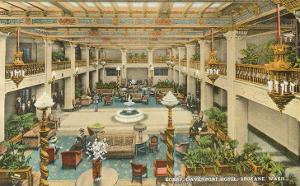 Lobby, Davenport Hotel, Spokane, Washington