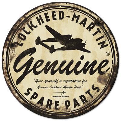 Lockheed Martin Genuine Spare Parts Steel Sign