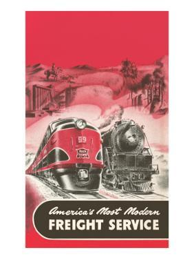 Locomotive and Streamlined Train